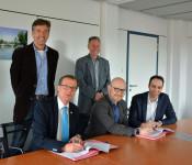 Auf dem Bild zu sehen sind von links nach rechts: Wolfgang Lauer, Klaus Eberhardt, Ralf Kaufmann, Patrick Klassnitz und Andreas Wobmann.