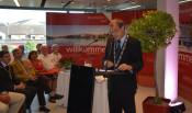 In seiner Ansprache betonte Oberbürgermeister Klaus Eberhardt die Bedeutung von Städtepartnerschaften.