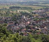 Blick auf die Dorfmitte von Herten