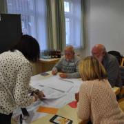 """Unter dem Motto """"Ein Dorfplatz? Kein Zufallsprodukt!"""" luden Stadt- und Ortsverwaltung die Hertener Bürger zu einem Workshop im Hertener Rathaus ein."""