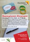 Plakat zum Kurs Basiswissen Ehrenamt
