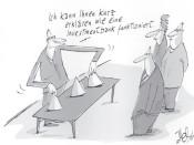 70 Zeichnungen von 30 Karikaturisten - ab 2. Januar in der Rathausgalerie.