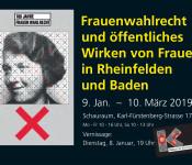 Ausstellung im Schauraum zu 100 Jahre Frauenwahlrecht: 9. Januar bis 10. März