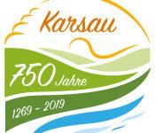 Jubiläumslogo 750 Jahre Karsau