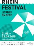 """Plakat zur Veranstaltungsreihe """"Rheinfestival""""."""