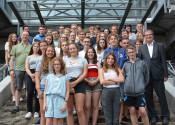 Internationales Jugendcamp: 30 Jugendliche aus den vier Partnerstädten sind noch bis 3. August zu Besuch in Rheinfelden.