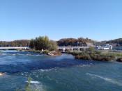 Fischaufstiegsgewässer beim Wasserkraftwerk