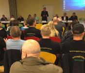 """Die """"offizielle"""" Sitzung des Stadtteilbeirates Warmbach mit Oberbürgermeister Eberhardt war gut besucht."""