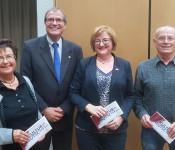 Oberbürgermeister Klaus Eberhardt bedankte sich bei den scheidenden Ortsvorstehern: Rita Rübsam (Nordschwaben), Sabine Hartmann-Müller (Herten) und Reinhard Börner (Eichsel).