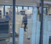Die Umbauaurbeiten für den Schauraum laufen auf Hochtouren. Eröffnung: 14. Dezember