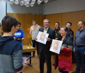 Am Mittwochmorgen gaben Oberbürgermeister Klaus Eberhardt und Bürgermeisterin Diana Stöcker den Startschuss für das Jugendrathaus 2020. Bis Mitte Februar werden rund 300 Achtklässler mit Hilfe einer QR-Code Rallye das Rathaus und die verschiedenen Aufgabe
