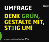 Umfrage zum ÖPNV in Rheinfelden (Baden): Denk Grün, Gestalte mit, Steig um!