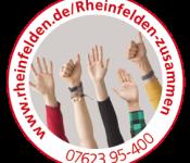 """Button """"Rheinfelden hält zusammen"""""""