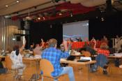 Gemeinderat berät in Corona-Zeiten im Bürgersaal.