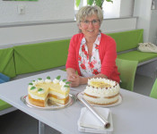 Heidi Kuder hat im Bürgertreffpunkt Gambrinus wieder Kuchen gebacken.