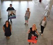 Jakob Steinegger, Martina Schilling, Kristina Putzas, Kulturamtsleiterin Henrike Fuder und Bürgermeisterin Diana Stöcker freuen sich auf das Kulturprogramm in den kommenden Wochen und Monaten.