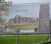 Wohnen am Park: Enthüllung der Bautafel.
