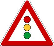 Straßenschild Ampel