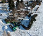 Voraussichtlich bis Ende Februar laufen die Rodungsarbeiten auf dem Gelände der zukünftigen Feuerwehr.