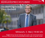 Werbung für die Online-Bürgersprechstunde