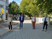 Stadtmarketer und Citymanager Steffen Günther mit seinen Kolleginnen aus Grenzach-Wyhlen, Rheinfelden (Schweiz) und Aarau.