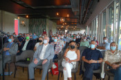 FSV Einweihung: Zahlreiche Gäste feierten die neuer Heimat des FSV.