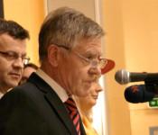 Oberbürgermeister Eberhard Niethammer und Stadtammann Franco Mazzi bei der gemeinsamen Begrüßung.