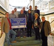 Oberbürgermeister Eberhard Niethammer und das Energieteam der Stadt freuen sich über den European Energy Award.