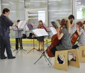 Monika Kordovich und die Musikschüler sorgten für prima Unterhaltung.