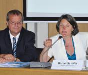 Oberbürgermeister Klaus Eberhardt und Regierungspräsidentin Bärbel Schäfer