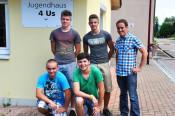 von links: Lukas Metzger, Lukas Krause, Marin Graß, Marius Maier und Jugendreferent Simon Hohler