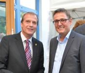 Oberbürgermeister Klaus Eberhardt und Werksleiter Andreas Cendra