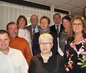 hinten von links: Heidi Voegele, Rolf Karrer, Marianne Knauer, Kurt Renz, Waltraud Dörfler, Klaus Eberhardt / vorne von links: Holger Rohloff, Oskar Rünzi, Gudrun Sautter, Ursula Wichert