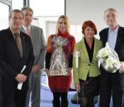 Oberbürgermeister Klaus Eberhardt, Achim Kitschmann, Nicola Osypka, Cornelia Rösner und Peter Osypka