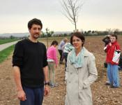 Jérémie Tudout und Ursula Philipps, Projektleiterin Entente Florale