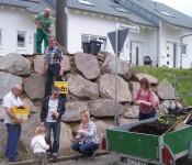 Aufwertung der Stützmauer in der Grienäckerstraße