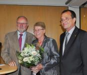 Dieter Krüsch, Monika Krüsch und Oberbürgermeister Klaus Eberhardt
