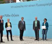 Peter Dettelmann, Ruth Loibl, Oberbürgermeister Klaus Eberhardt, Alexander Lennemann und Ursula Philipps