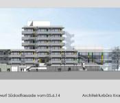 Vorentwurf Südostfassade Rathaus