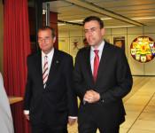Oberbürgermeister Klaus Eberhardt und Nils Schmid