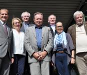 OB Klaus Eberhardt, Karin Paulsen-Zenke, Udo Düssel, Paul Renz, Hanspeter Schuler, Karin Reichert-Moser und Heinrich Lohmann
