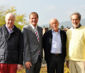 Norbert Dietrich, Oberbürgermeister Klaus Eberhardt, Karlheinz Hoppe und Wolfgang Bocks