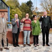 OB Klaus Eberhardt, Gustav Widmann, Andreas Baumgartner, Evelin Klein und Rainer Späne