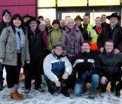 Die Degerfelder Delegation beim Besuch des Logistik-Parks