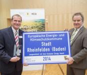Oberbürgermeister Klaus Eberhardt und Minister Franz Untersteller