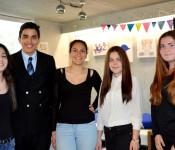 Wurden gewählt: Ereza Thaqi, Jeffrey Bouhouch, Eniza Bakimci, Kathrin Mizak und Jasmin Benkö (von links)