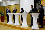 Klaus Eberhardt, Franco Mazzi, Monica Linder-Guarnaccia, Frank Miebach und Patrick Leypoldt