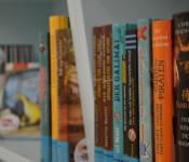 Eine große Buchauswahl steht für Kinder und Jugendliche bereit.