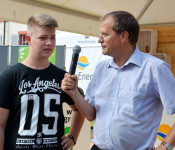 Dmitrij Ros und Oberbürgermeister Klaus Eberhardt