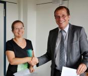 Diana Stöcker und Oberbürgermeister Klaus Eberhardt